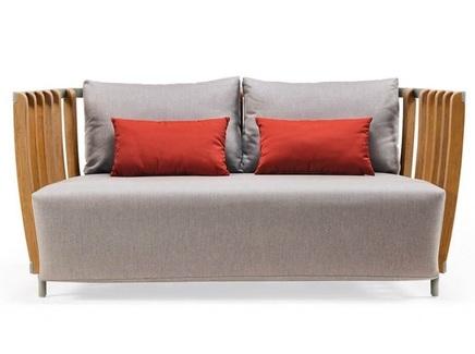 Диван двухместный swing (ethimo) серый 166x77x85 см.