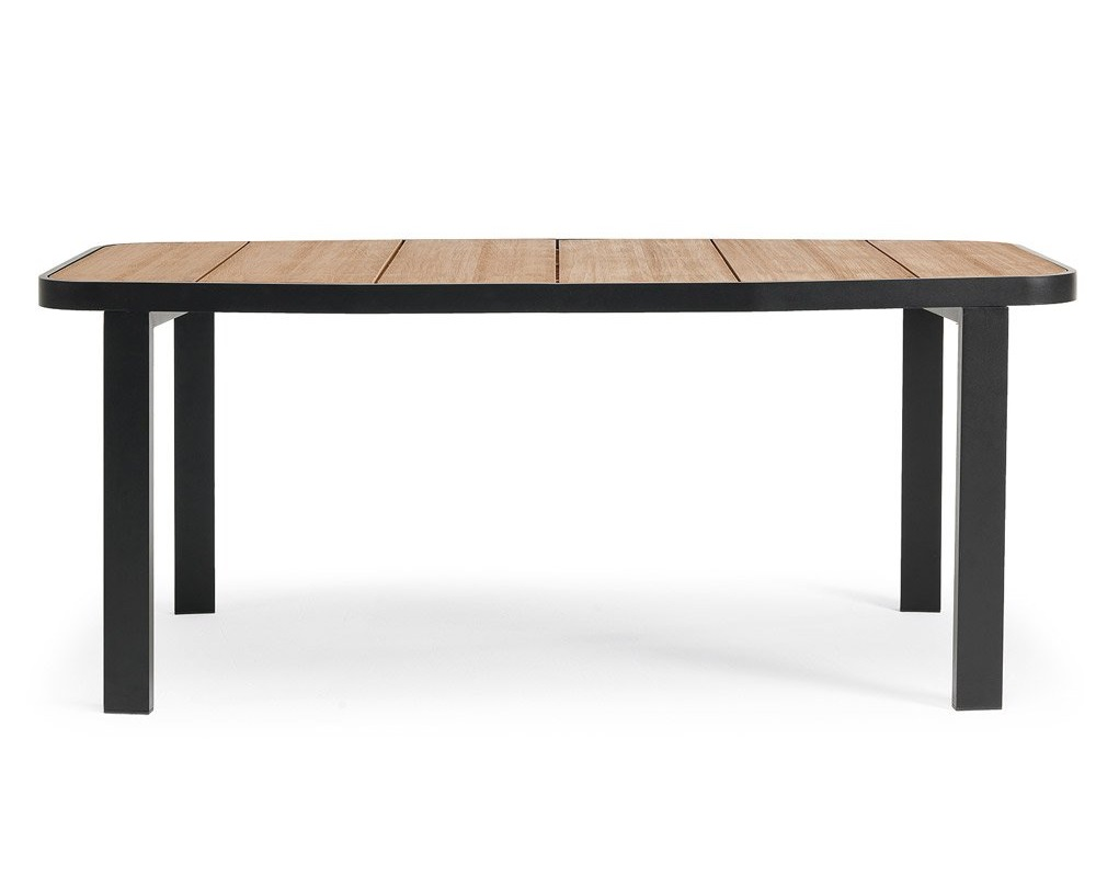 Стол обеденный SWINGСтолы и столики для сада<br>Фабрика Ethimo уже более 30 лет создает дизайнерскую мебель для сада. Сохраняя за собой статус семейного предприятия, компания ежегодно выпускает сотни предметов уличной мебели из лучших материалов высокого качества: алюминий, сталь, тик и специальные ткани для наружной эксплуатации.Материал: металл, тик