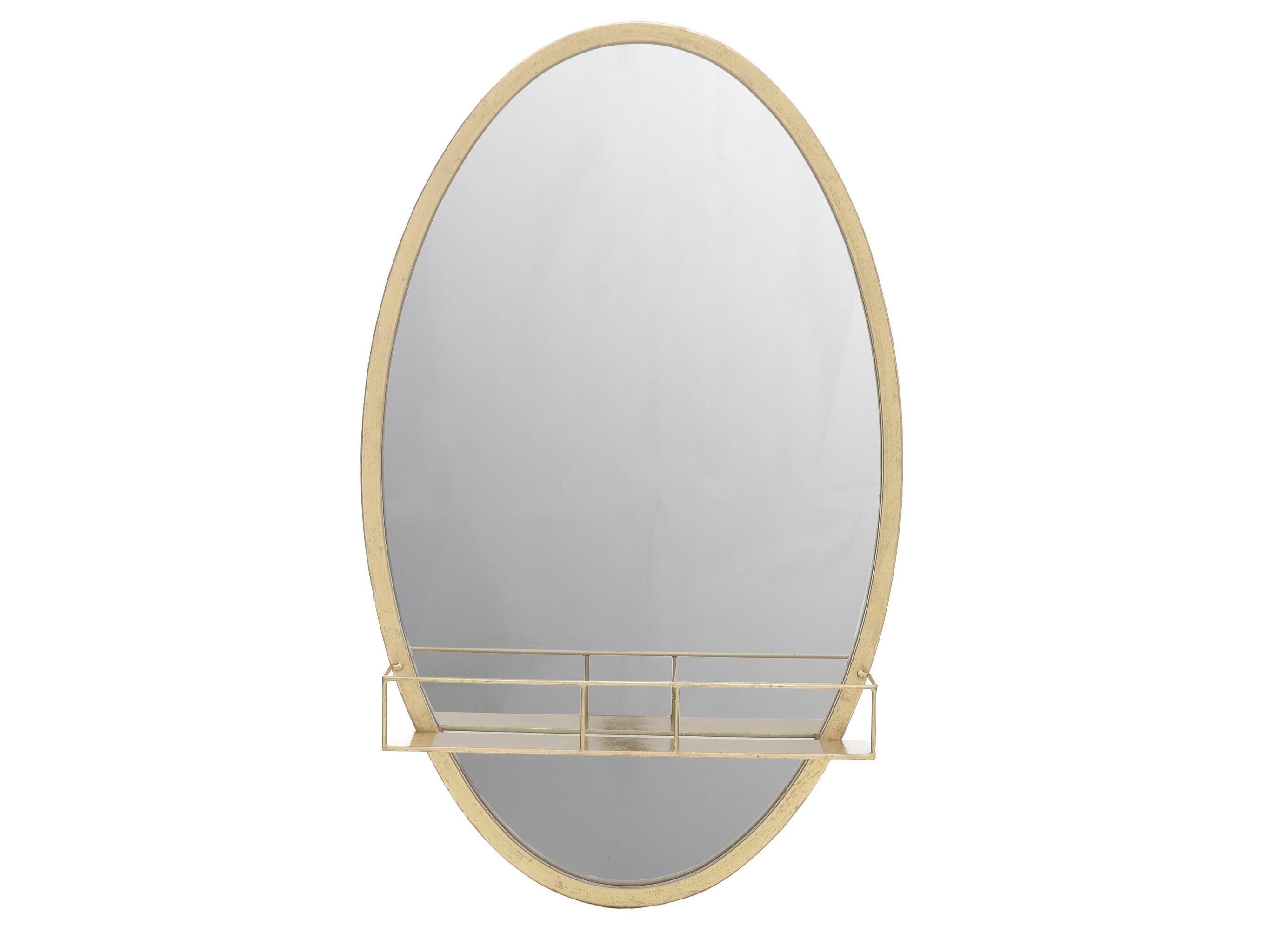 Зеркало с полкой teofilo (to4rooms) бронзовый 41.0x66.0x9.0 см.