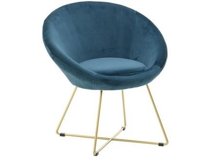 Кресло ernesto (to4rooms) синий 78.0x80.0x68.0 см.