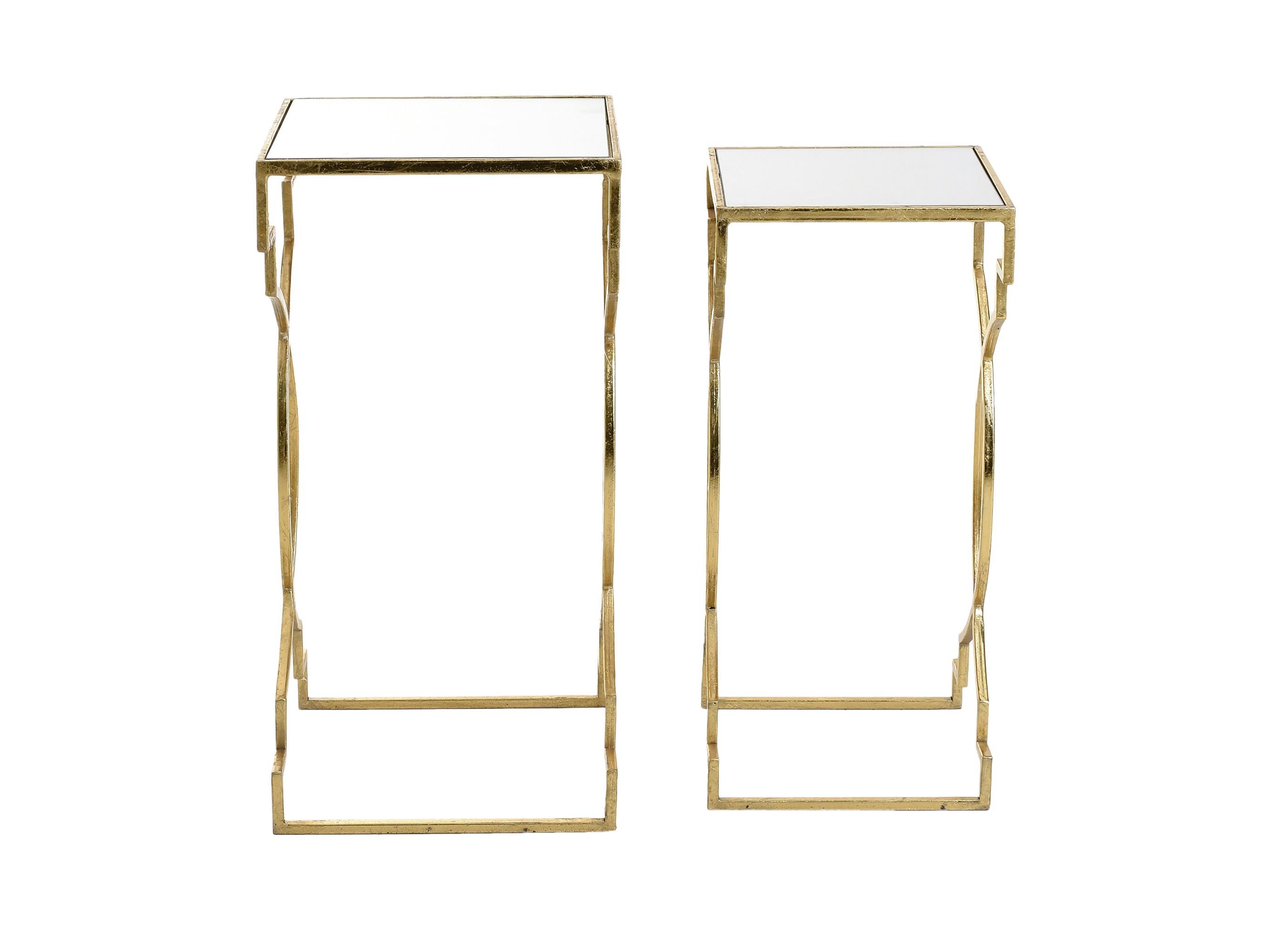 Набор столиков Aristokles (2 шт)Приставные столики<br>Размеры:30.5 X 30.5 X 61 см. 27 Х 27 Х 55 см.