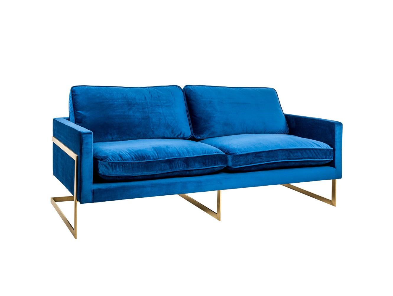 Диван «дольче» (object desire) синий 220x100x90 см. фото