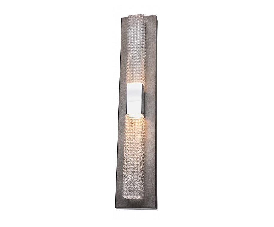 Накладной светильник GrooveБра<br>Мощность: 4,8WЦоколь: LEDОбщее кол-во ламп: 2 (в комплекте)Материал: стекло, металл