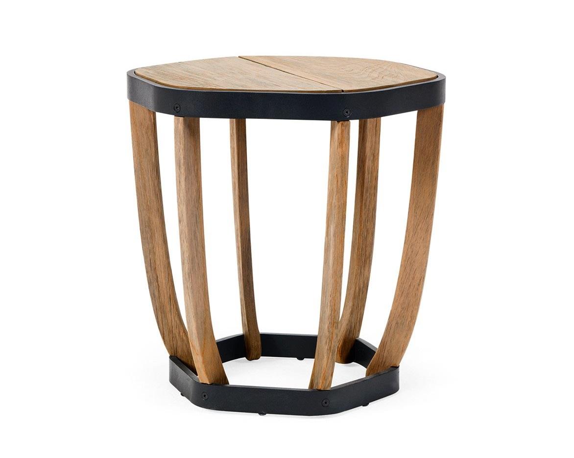 """Купить Стол приставной """"swing"""" (Ethimo) черный тик 47x50x50 см. 86572 в интернет магазине. Цены, фото, описания, характеристики, отзывы, обзоры"""