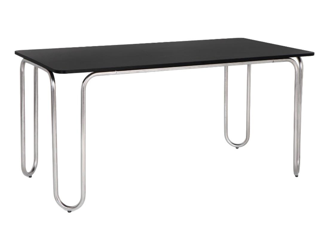 Обеденный стол bauhaus (woodi) черный 160.0x75.0x80.0 см. фото