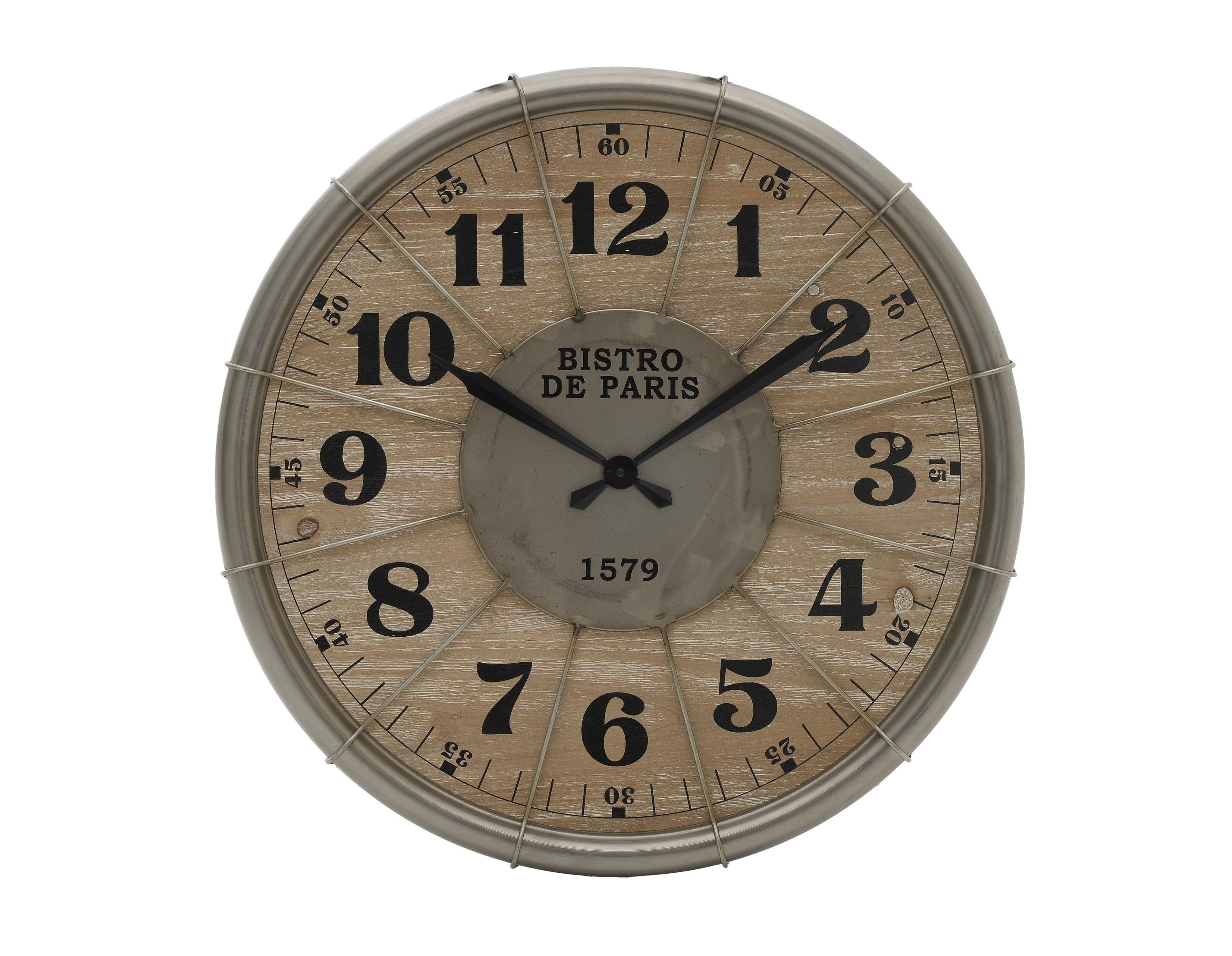 Часы настенные egbert (to4rooms) коричневый 4.5 см. фото