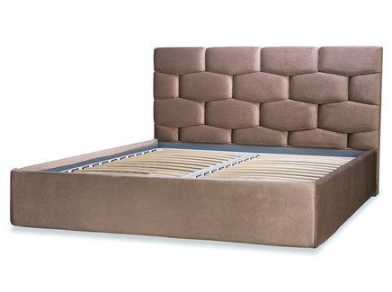 Мягкая кровать renzo (idealbeds) коричневый 170x130x220 см.