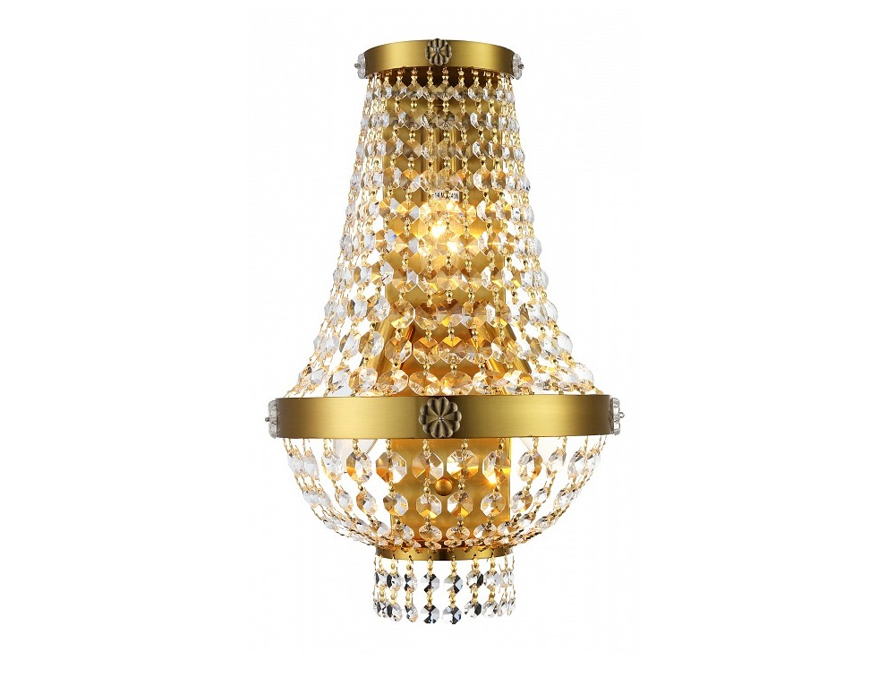 Накладной светильник GrandeПотолочные светильники<br>Мощность: 40W Цоколь: E14Общее кол-во ламп: 3 (нет в комплекте)Материал: хрусталь, металл<br><br>kit: None<br>gender: None
