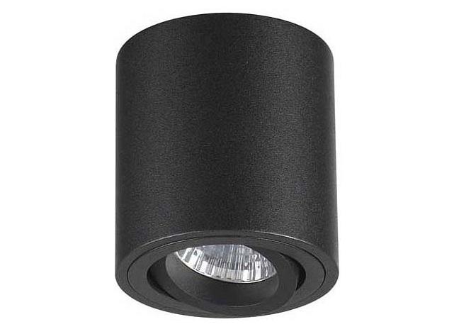 Накладной светильник tuborino (odeon light) черный 8.0 см. фото
