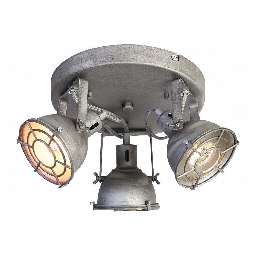 Спот LichtwerferСпоты<br>Мощность - 50W Цоколь - GU10 Общее кол-во ламп - 3 (нет в комплекте) Материал плафонов и подвесок - металлМатериал арматуры - металл