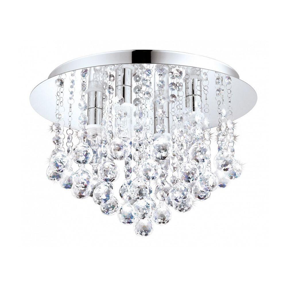 """Купить Накладной светильник """"almonte"""" (Eglo) серебристый хрусталь 23 см. 88003 в интернет магазине. Цены, фото, описания, характеристики, отзывы, обзоры"""