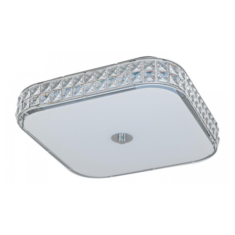 Накладной светильник CardillioПотолочные светильники<br>Мощность - 23.5W Цоколь - LED Общее кол-во ламп - 1 (в комплекте)Материал плафонов и подвесок - стекло, хрустальМатериал арматуры - сталь