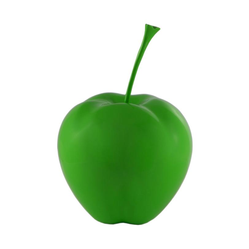 Декор  Apple GreenСтатуэтки<br>Матовое зеленое яблоко. Благодаря неожиданному размеру оно заставляет остановить на нем свой взгляд. Оригинальный интерьерный декор.<br><br>Material: Пластик<br>Length см: None<br>Width см: None<br>Height см: 30<br>Diameter см: 25