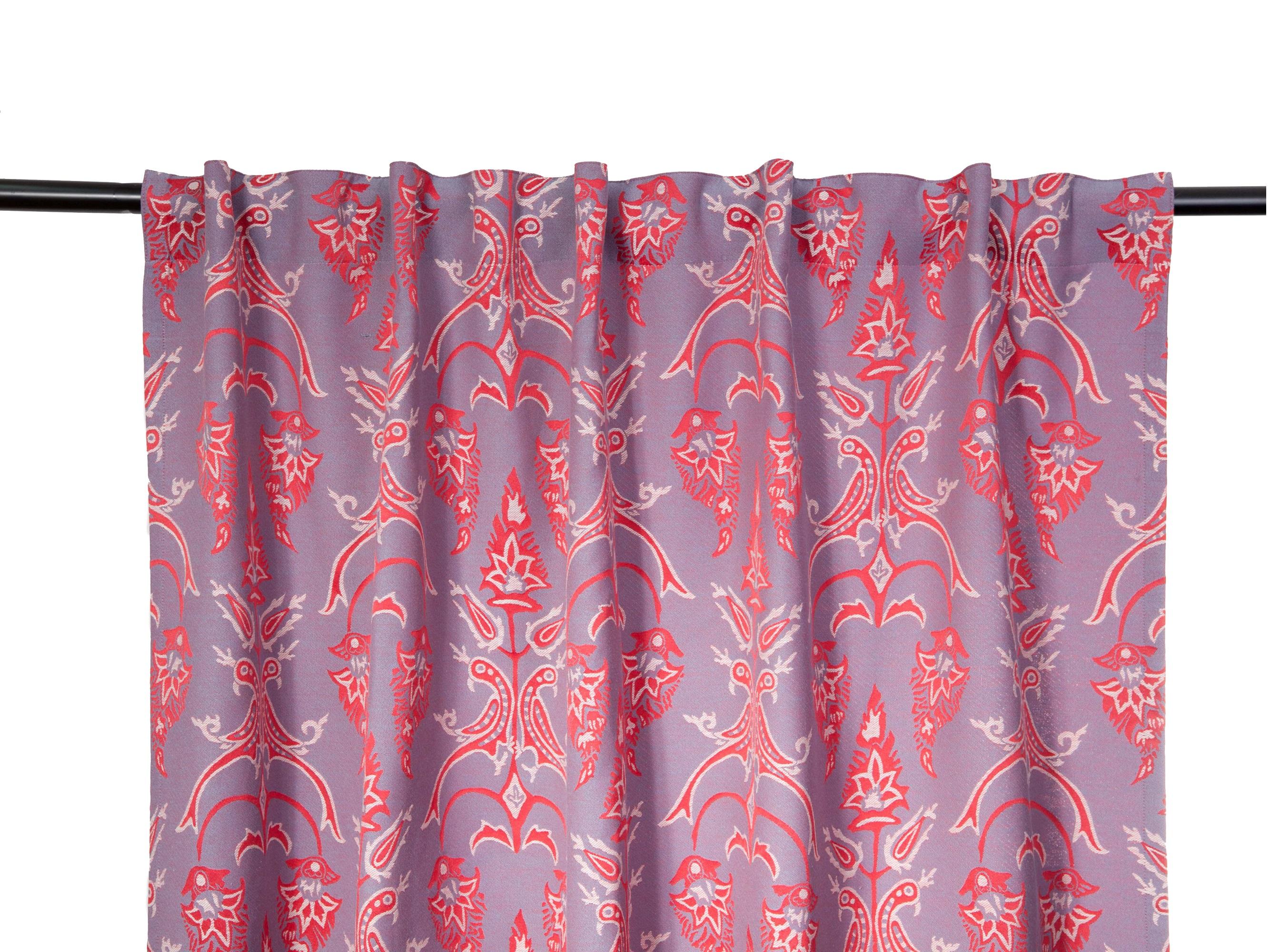 Комплект штор ПтицыШторы<br>Орнамент составлен из повторяющегося мотива, взятого с одной из персидских текстильных панелей 18 века. Птицы, сидящие на ветке, отвернулись друг от друга и увлеченно рассматривают свои хвосты. В комплект входят два полотна на шторной ленте с 3-мя вариантами сборки. Открытый низ, оставлет возможность подшить необходимую высоту. Можно стирать в стиральной машине. Состав : 68% хлопок, 32% полиэфир.