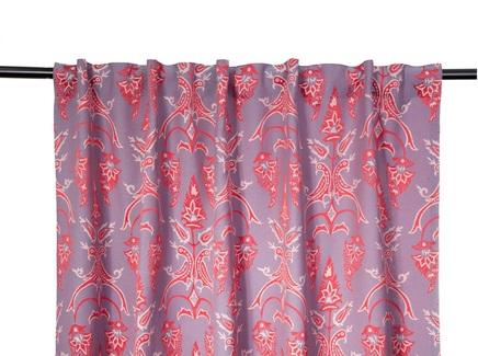 Комплект штор птицы (кокон) фиолетовый 140.0x320.0 см.