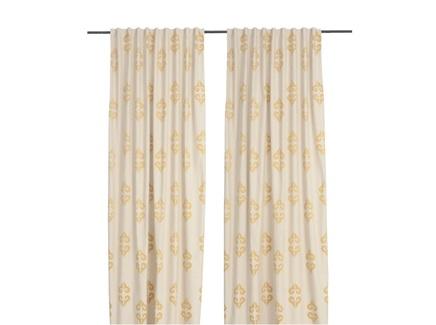 Комплект штор рога (кокон) золотой 140.0x320.0 см.