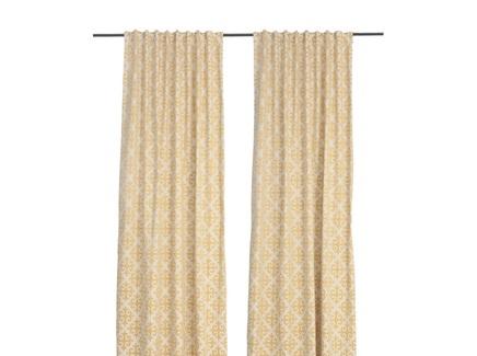 Комплект штор ромбы (кокон) золотой 140.0x320.0 см.