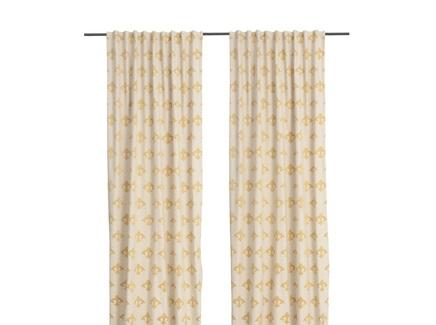 Комплект штор птички (кокон) золотой 140.0x320.0 см.