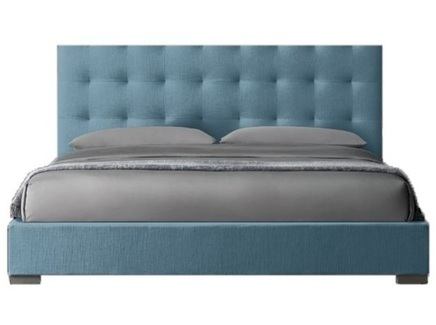 Мягкая кровать modena box (idealbeds) голубой 170.0x130.0x212.0 см.