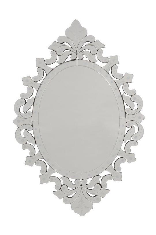 Зеркало FiadorНастенные зеркала<br>Оригинальная изысканная рама и аристократическая овальная форма зеркала Fiador делают его неповторимым и роскошным. Зеркало украсит помещение, оформленное в любом современном или винтажном стиле.<br><br>Material: Стекло<br>Length см: 79<br>Width см: 53