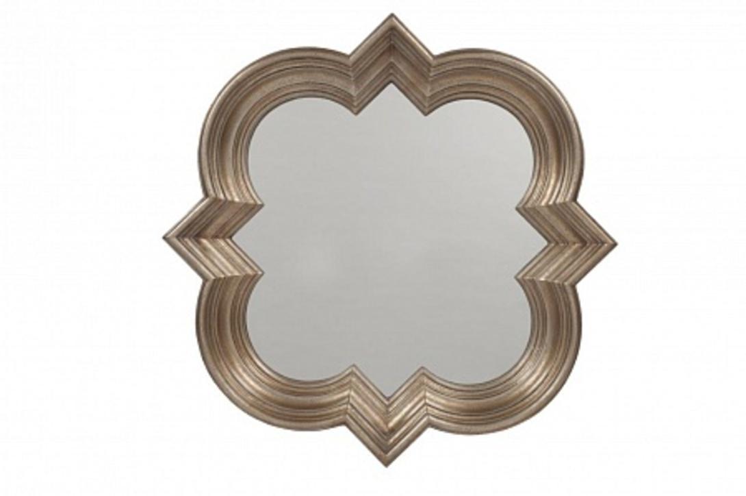 Зеркало GoldieНастенные зеркала<br>Зеркало &amp;quot;Goldie&amp;quot; – это изысканный предмет декора стен вашего дома, который можно повесить в любой комнате: как в гостиной или спальне, так и в ванной или прихожей. Оригинальная рама и внушительный размер позволят вам при помощи аксессуара не только привнести в оформление помещения дополнительный уют и роскошь, но и визуально расширить его и сделать светлее.<br><br>Material: Полистоун<br>Length см: 87.0<br>Width см: 87.0<br>Depth см: 8.5<br>Height см: None<br>Diameter см: None