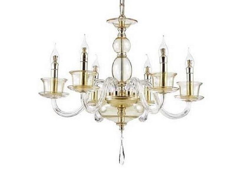 Подвесная люстра TintaЛюстры подвесные<br>Мощность: 40WЦоколь: E14Общее кол-во ламп: 6 (нет в комплекте)Материал: стекло, хрусталь, металл