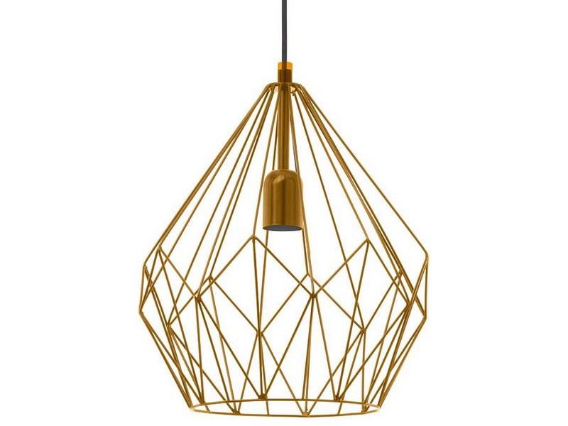 Подвесной светильник CarltonПодвесные светильники<br>Мощность: 60W Цоколь: E27 <br>Общее кол-во ламп: 1 (нет в комплекте)Материал: сталь