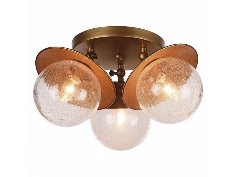 Светильник FarolaПотолочные светильники<br>Мощность: 40W<br>Цоколь: E14<br>Общее кол-во ламп: 3 (нет в комплекте)Материал: стекло, металл