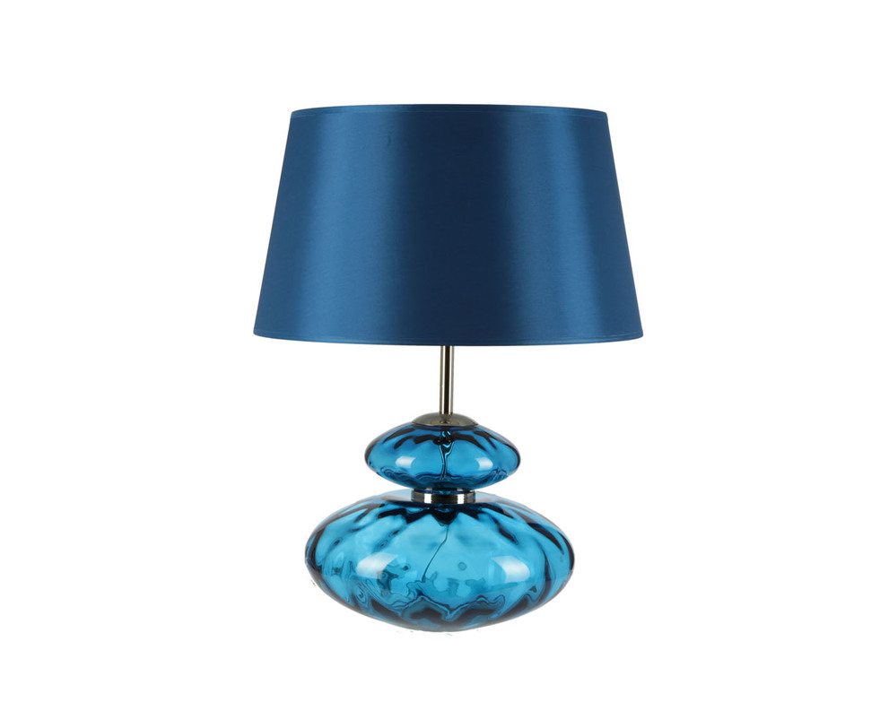 Настольная лампаДекоративные лампы<br>Изщная форма и глубокий, мерцающий цвет индиго. Прозрачное основание напоминает хрустальную вазу из цветного стекла. Его дополняет плотный, темно-синий абажур.&amp;lt;div&amp;gt;&amp;lt;br&amp;gt;&amp;lt;/div&amp;gt;&amp;lt;div&amp;gt;&amp;lt;div&amp;gt;Вид цоколя: E27&amp;lt;/div&amp;gt;&amp;lt;div&amp;gt;Мощность: 60W&amp;lt;/div&amp;gt;&amp;lt;div&amp;gt;Количество ламп: 1&amp;lt;/div&amp;gt;&amp;lt;/div&amp;gt;<br><br>Material: Стекло<br>Length см: 35<br>Height см: 46