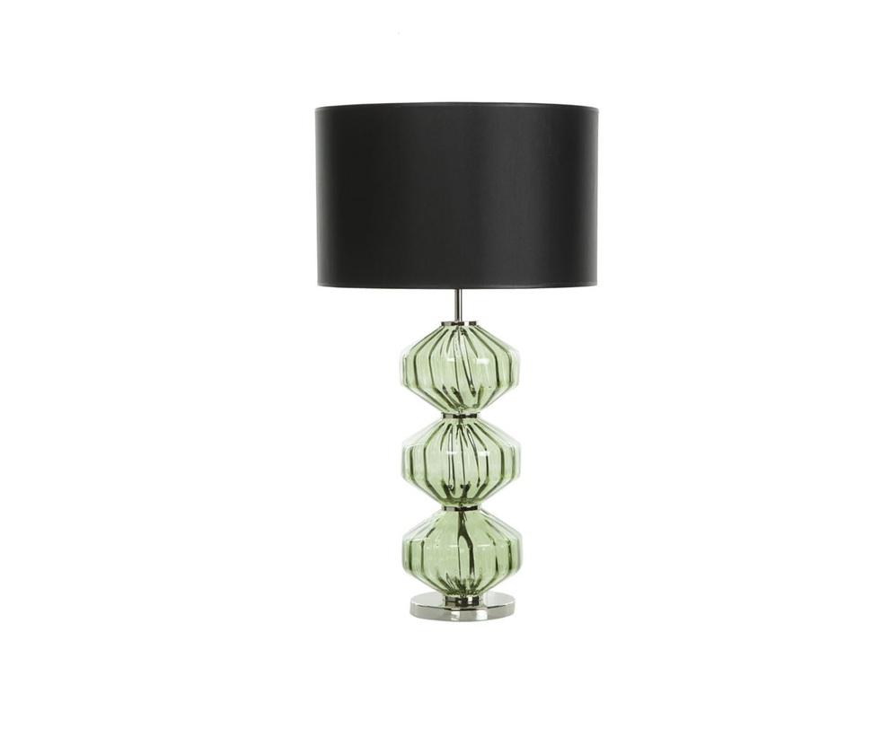 Настольная лампаДекоративные лампы<br>Прозрачное нежно-зеленое основание с хромированными элементами -- стеклянная гирлянда с &amp;quot;перекрученными&amp;quot; элементами. Черный, очень плотный абажур контрастирует с легким, воздушным основанием.&amp;lt;div&amp;gt;&amp;lt;br&amp;gt;&amp;lt;/div&amp;gt;&amp;lt;div&amp;gt;&amp;lt;div&amp;gt;Вид цоколя: E27&amp;lt;/div&amp;gt;&amp;lt;div&amp;gt;Мощность: 60W&amp;lt;/div&amp;gt;&amp;lt;div&amp;gt;Количество ламп: 1&amp;lt;/div&amp;gt;&amp;lt;/div&amp;gt;<br><br>Material: Стекло<br>Length см: 40<br>Height см: 72.5