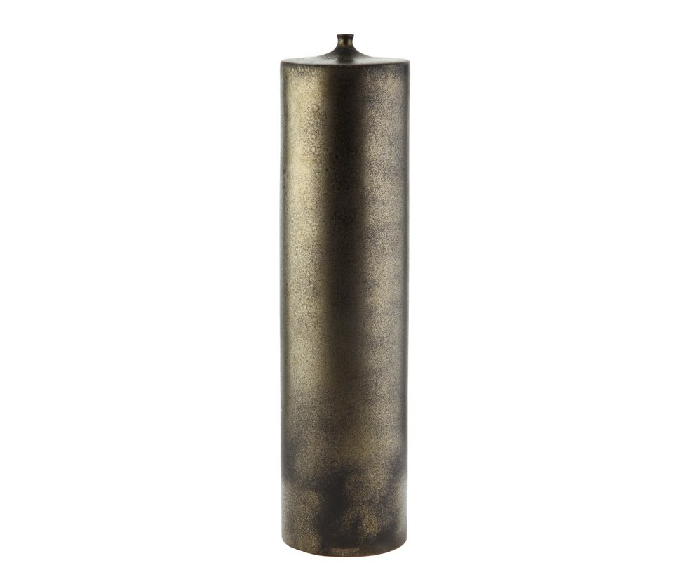 Предмет декораВазы<br>Высокий декоративный элемент, одновременно напоминающий и свечу, и вазу. Выполнен из фаянса и покрыт глазурью, имитирующей черный металл.<br><br>Material: Керамика<br>Length см: 13.5<br>Width см: 13.5<br>Depth см: None<br>Height см: 53.5<br>Diameter см: None