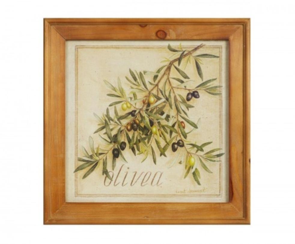 Картина OliveaКартины<br>Картина в рамке Olivea – это удачное приобретение для тех, кто ценит уют и тепло своего дома и хочет украсить его изысканно и красиво. Предмет декора выполнен в лучших традициях стиля «прованс»: изящные растительные мотивы, деревянная рама с искусственными потертостями, неброские цвета, использованные при написании картины. Аксессуар также может стать прекрасным подарком близким людям.<br>Материал: Бумага, деревянная рама (ель) и стекло<br><br>Material: Бумага<br>Length см: 51<br>Width см: 51<br>Height см: 2.5