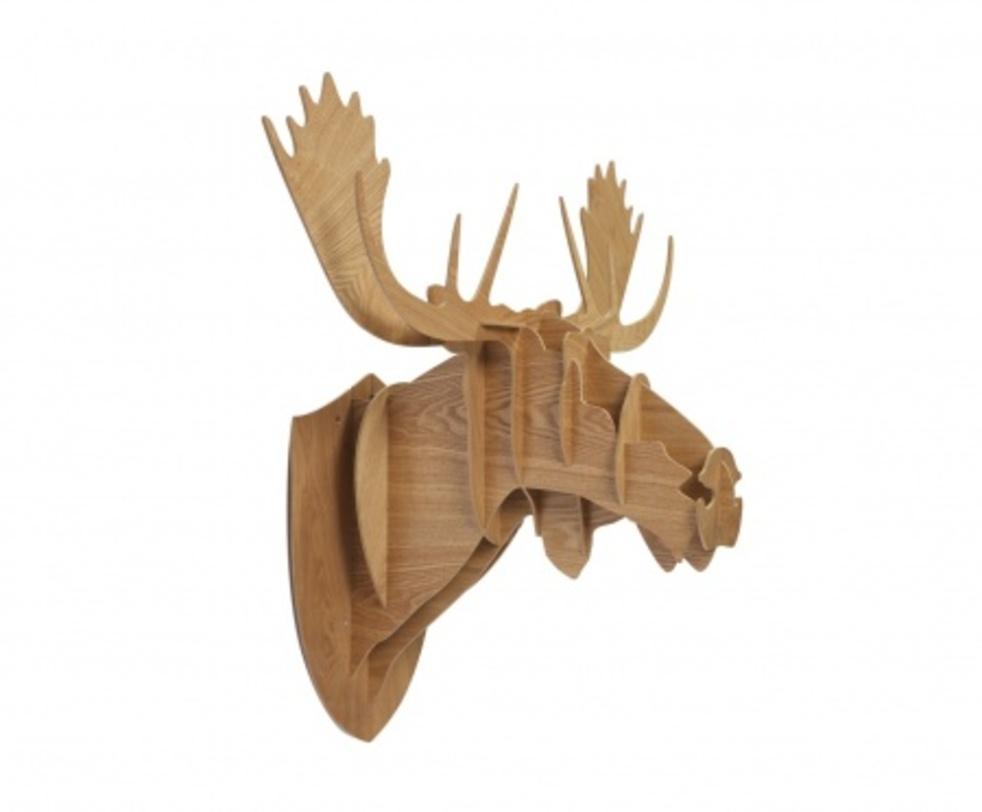 Декоративная голова лося Sand HugeФигуры<br>Декоративная голова лося Sand Huge – это оригинальный предмет украшения интерьера, который привнесет в него изюминку, сделает неповторимым и изысканным. Аксессуар изготовлен из высококачественного материала и собирается, как деревянный пазл. Голова роскошно будет смотреться на стене в комнате, оформленной как в современном, так и в классическом стиле. Создайте уют в вашем доме!<br><br>Material: Дерево<br>Length см: 89.0<br>Width см: 96.0<br>Depth см: None<br>Height см: 60.0<br>Diameter см: None