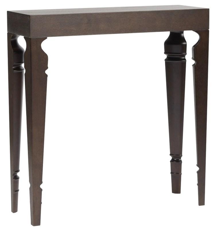 Туалетный стол Carrie Brown OneТуалетные столики<br>Высокий туалетный столик может также использоваться как легкая консоль. Оригинальные ножки, будто четыре части одной точеной. Каркас сделан из дерева. Поверхность отделана темно-коричневым блестящим лаком.<br><br>Material: Дерево<br>Length см: 90<br>Width см: 30<br>Height см: 95