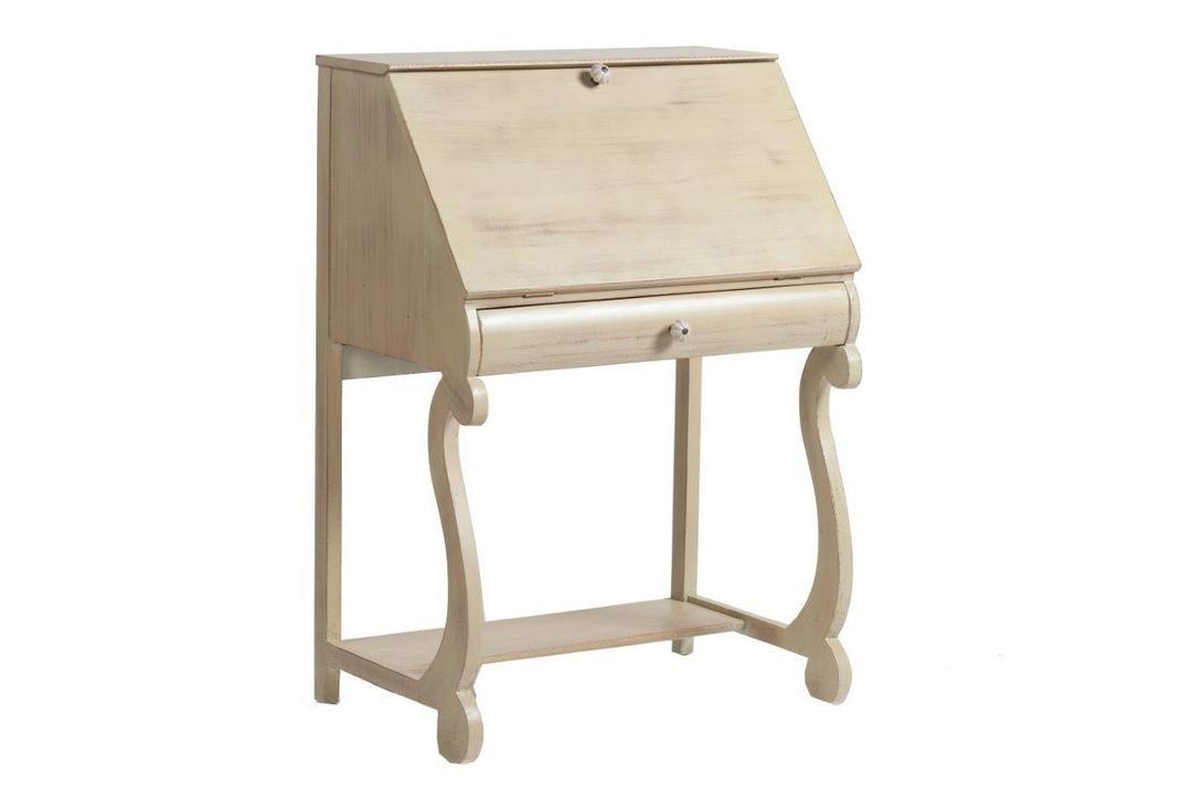 Секретер SegridoСекретеры и бюро<br>Секретер Segrido – это удобный и многофункциональный предмет мебели, представляющий собой стол с ящичками и полочками для хранения бумаг, письменных принадлежностей и других ценных и нужных вещей. Он идеально впишется в любую комнату вашего дома, оформленного в стиле «шебби шик», благодаря цветовому и дизайнерскому решению, резьбе по дереву и искусственной состаренности.<br><br>Material: Дерево<br>Length см: 69.0<br>Width см: 45.0<br>Height см: 98.0