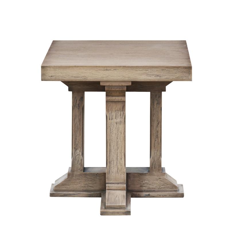 Столик приставной Preston Side TableПриставные столики<br>Приставной столик в стиле прованс с геометричными ножками напоминает древнегреческий постамент, на котором вы сможете разместить журналы, книги, чашечку кофе и все, что необходимо в планируемом помещении.<br><br>Цвет: махагон<br><br>Material: Дерево<br>Length см: 61<br>Width см: 61<br>Height см: 61