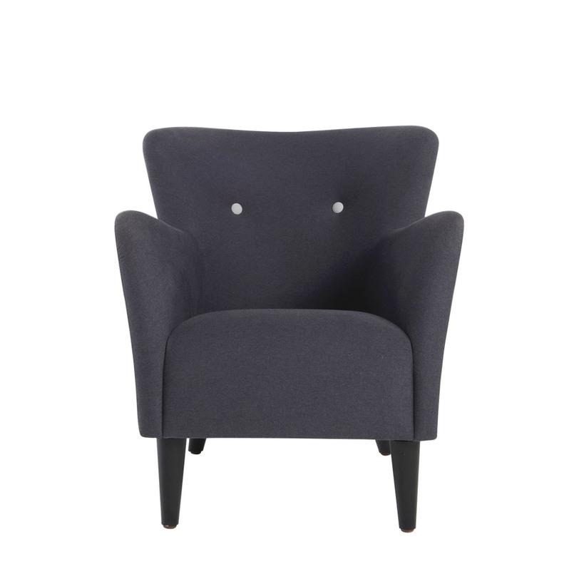 Кресло Howard armchairИнтерьерные кресла<br>Кресло с трапецевидной спинкой и высокими подлокотниками подойдет для создания современного интерьера - например в скандинавском стиле, стиле лофт и других. Ножки кресла изготовлены из дуба и окрашены в черный цвет. Чехлы не снимаются.<br><br>Material: Текстиль<br>Length см: 74.0<br>Width см: None<br>Depth см: 84.0<br>Height см: 81.0<br>Diameter см: None