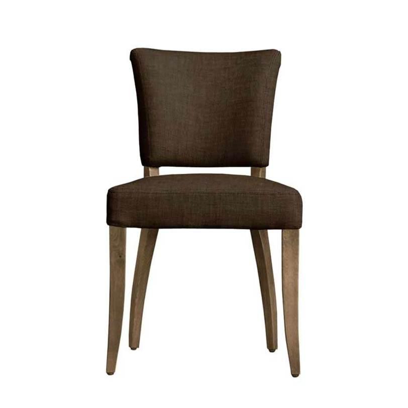 Стул Beatrice chairОбеденные стулья<br>Элегантный обеденный стул на гнутых ножках из натурального дерева насыщенного кофейного цвета. Французский шик в ручной отделке, бронзовая фурнитура и приятная телу ткань – все, что украсит вашу обеденную зону.<br><br>Обивка: 50% рогожка, 50% хлопок.<br>Цвет: коричневый (кофе).<br><br>Material: Текстиль<br>Length см: 51<br>Width см: 67<br>Height см: 99
