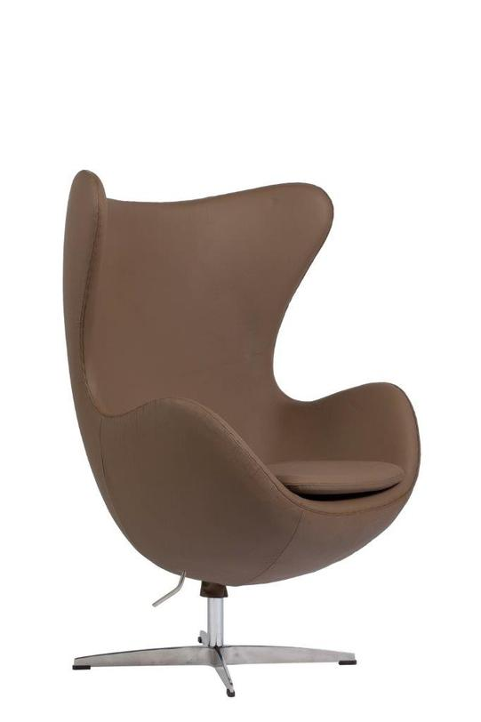 Кресло Egg Chair Brown PremiumКожаные кресла<br><br><br>Material: Кожа<br>Length см: 82.0<br>Width см: 76.0<br>Depth см: None<br>Height см: 105.0<br>Diameter см: None