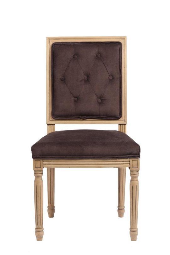 Стул Tampere BrownОбеденные стулья<br><br><br>Material: Вельвет<br>Length см: 50<br>Width см: 55<br>Height см: 96