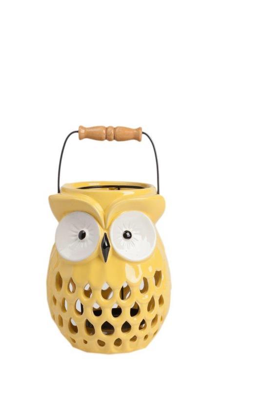 Подсвечник SpyПодсвечники<br>Очаровательный и милый подсвечник Spy поможет создать атмосферу праздника в вашем доме или романтический настрой, в зависимости от ваших желаний. Аксессуар изготовлен из грубой керамики в виде симпатичной совы. Цветовое решение позволяет украсить этим предметом декора как современный, так и классический интерьер. Удобная ручка поможет спокойно и без проблем переносить подсвечник в любое необходимое вам место.<br>Материал: Грубая керамика<br><br>Material: Керамика<br>Length см: 15.5<br>Width см: 15.5<br>Depth см: None<br>Height см: 20.5<br>Diameter см: None