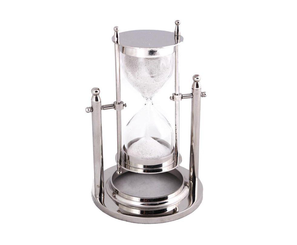 Часы песочныеНастольные часы<br><br><br>Material: Металл<br>Length см: 11<br>Width см: 11