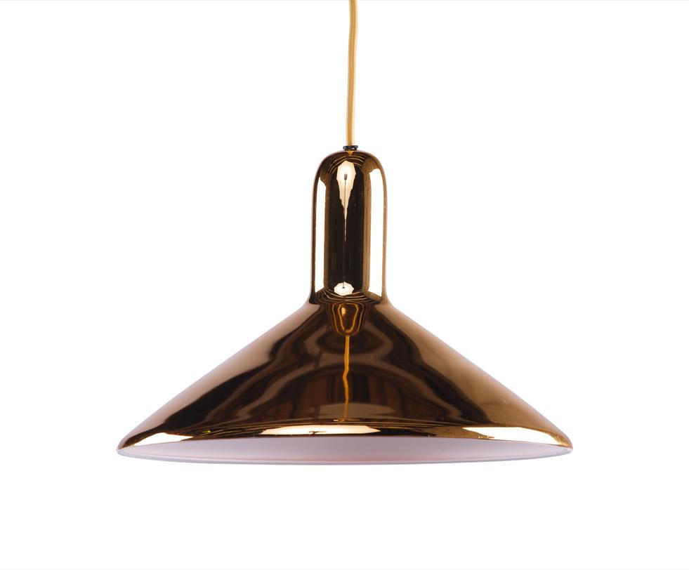 Подвесной светильникПодвесные светильники<br>Цвет: золото<br>Цоколь: Е27<br>Мощность: 40W<br>1 лампочка<br><br>Material: Металл<br>Height см: 27<br>Diameter см: 37