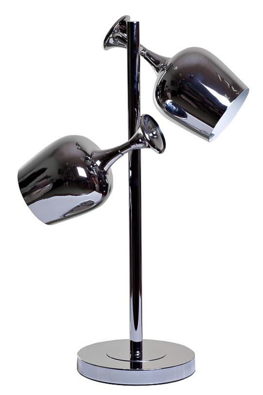 Настольная лампаДекоративные лампы<br>Настольная лампа из металла декорирована двумя оригинальными светильниками в виде бокалов для вина. Прекрасно впишется в тематический интерьер, например, на кухне в квартире или на барной стойке кафе.&amp;lt;div&amp;gt;&amp;lt;br&amp;gt;&amp;lt;/div&amp;gt;&amp;lt;div&amp;gt;&amp;lt;div&amp;gt;Цоколь: E27&amp;lt;/div&amp;gt;&amp;lt;div&amp;gt;Мощность лампы: 60W&amp;lt;/div&amp;gt;&amp;lt;div&amp;gt;Количество ламп: 2&amp;lt;/div&amp;gt;&amp;lt;/div&amp;gt;<br><br>Material: Металл<br>Ширина см: 46<br>Высота см: 66<br>Глубина см: 24