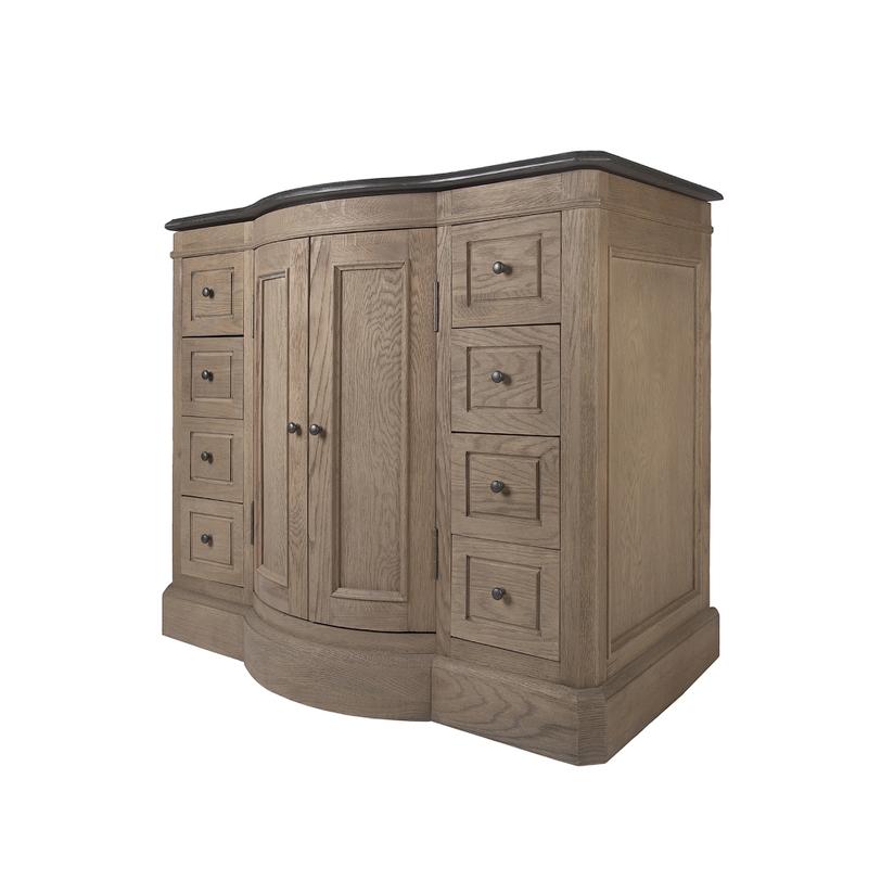 Умывальник НилеТумбы для ванной<br>Шикарный умывальник в стиле прованс из натурального дуба. Изгиб фасада, множество ящиков и тяжелое основание выглядят солидно и дорого. Качественные натуральные материалы будут служить вам десятилетиями.<br><br>Материал: керамика, массив дуба, камень<br><br>Material: Дуб<br>Length см: 105<br>Width см: 55<br>Height см: 83