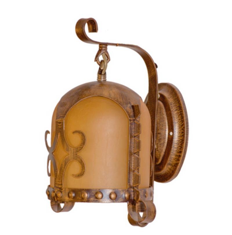 Бра СамурайБра<br>Крашеное металлическое основание состаренного коричневого цвета, декоративный плафон из стекла.<br>1*60W E27<br>Тип лампы: Накаливания<br>Рекомендуемая<br>площадь освещения: 3 кв. м<br><br>Material: Металл<br>Ширина см: 24<br>Высота см: 30