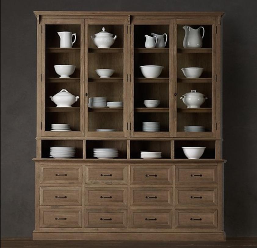 Шкаф ХарингтонПосудные шкафы<br>Материал: натуральная древесина, металл.<br><br>Material: Дерево<br>Length см: 201.0<br>Depth см: 44.0<br>Height см: 240.0