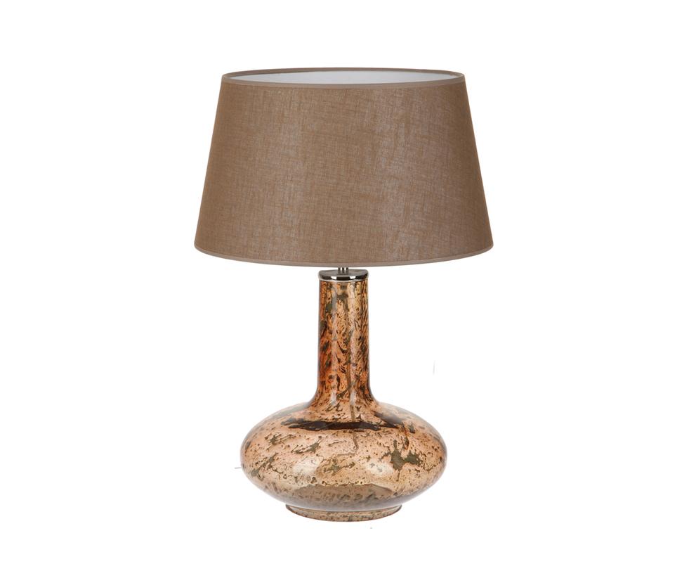 Настольная лампаДекоративные лампы<br>Настольная лампа с основанием из фактурного стекла в форме древнего кувшина. Натуральный тканевый абажур песочного цвета дополняет образ предмета в средиземноморском или этническом стиле.&amp;lt;div&amp;gt;&amp;lt;br&amp;gt;&amp;lt;/div&amp;gt;&amp;lt;div&amp;gt;&amp;lt;div&amp;gt;Вид цоколя: E27&amp;lt;/div&amp;gt;&amp;lt;div&amp;gt;Мощность: 60W&amp;lt;/div&amp;gt;&amp;lt;div&amp;gt;Количество ламп: 1&amp;lt;/div&amp;gt;&amp;lt;/div&amp;gt;<br><br>Material: Стекло<br>Ширина см: 35<br>Высота см: 51