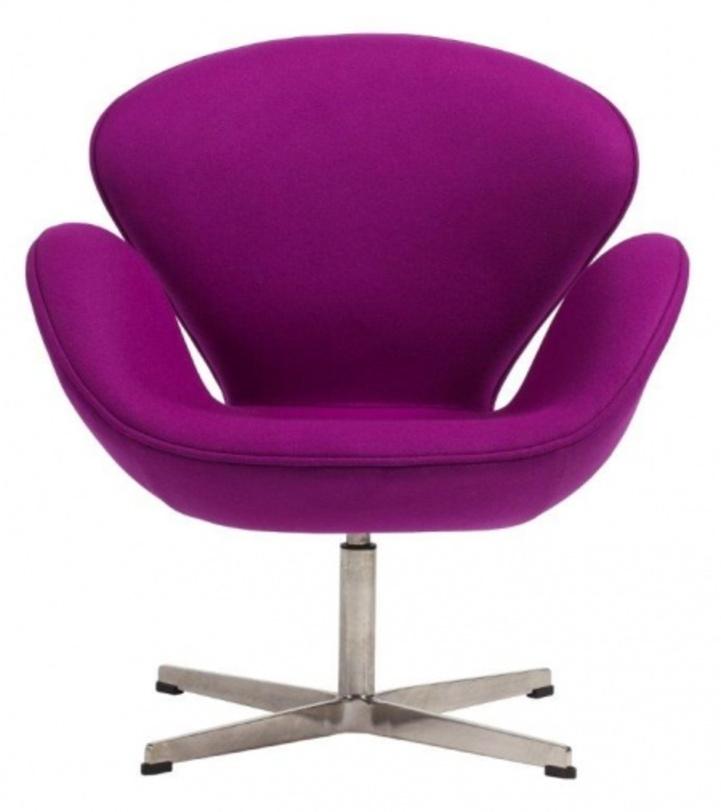 DG Кресло Swan Chair Violet кресло swan chair серая шерсть 71 х 70 х 78 см