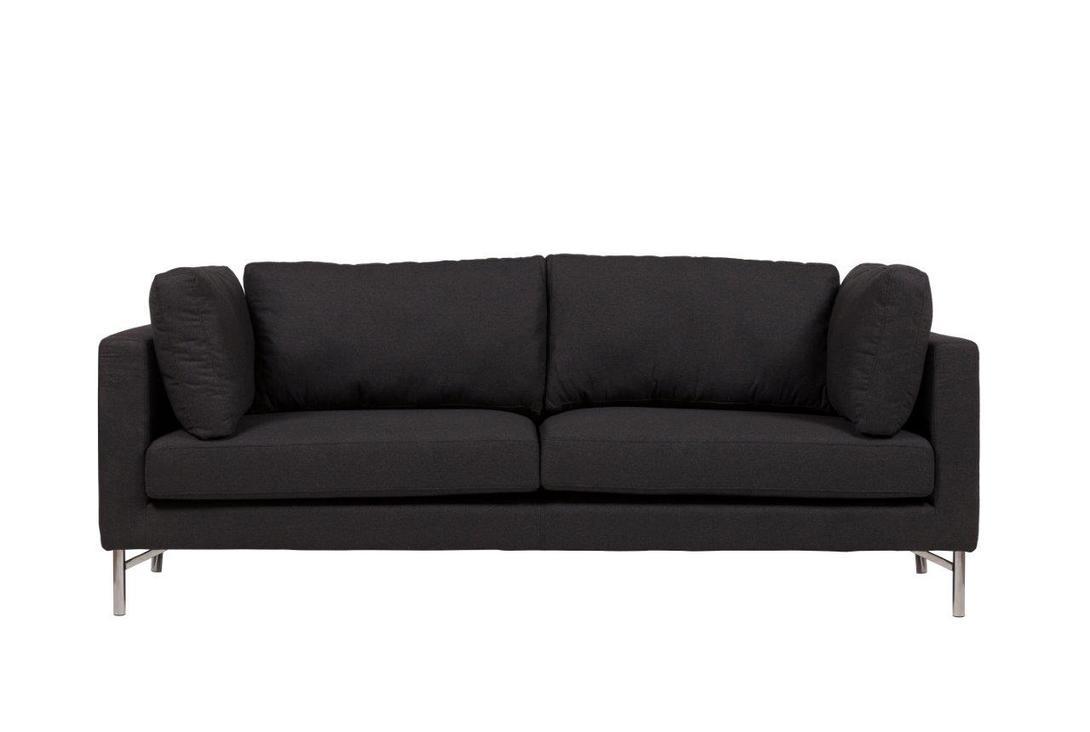 Диван Box Light GrandeТрехместные диваны<br>Диван Box Light Grande – роскошный современный и удобный предмет мебели, который может выполнять не только практическую функцию, но и эстетическую. Благородный темно-серый цвет обивки в сочетании со стальными ножками дают возможность предмету мебели украсить ваш дом, привнести в него уюта и очарования. Несмотря на внушительный размер дивана, он не добавит комнате громоздкости, а, наоборот, подчеркнет широкое пространство и стиль помещения.<br>Материал: ткань, поролон, деревянное основание, ножки из нержавеющей стали<br>Цвет: Серый<br><br>Material: Текстиль<br>Length см: 224<br>Width см: 88<br>Height см: 85